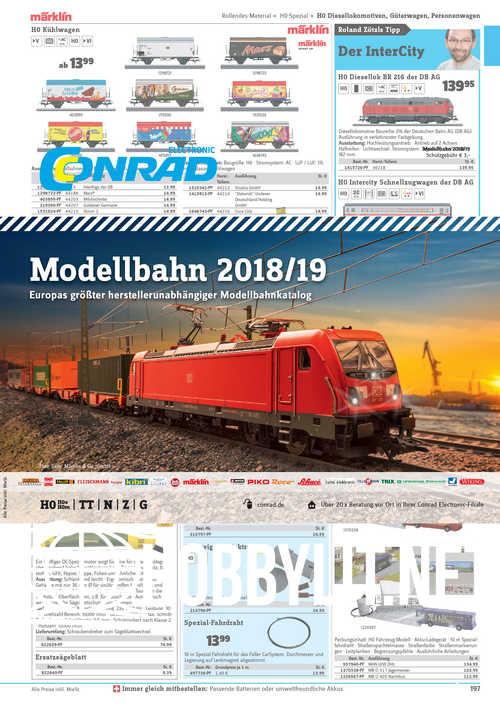 Conrad Modellbahn 2018/2019