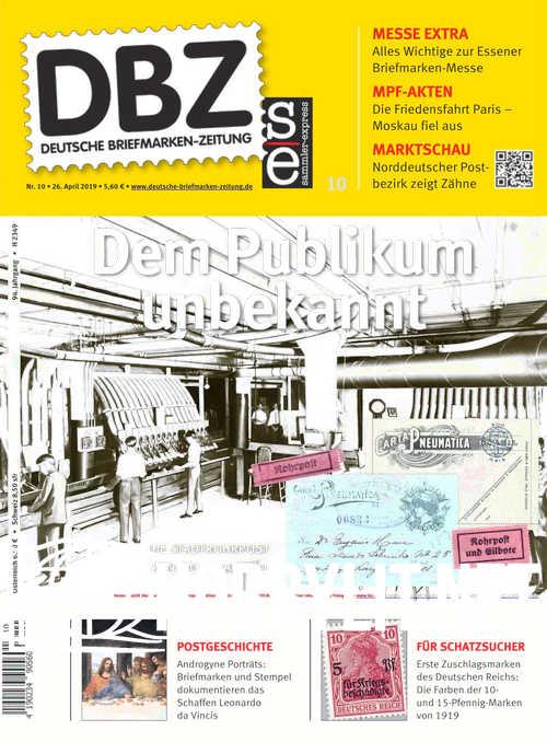 Deutsche Briefmarken-Zeitung 2019-10