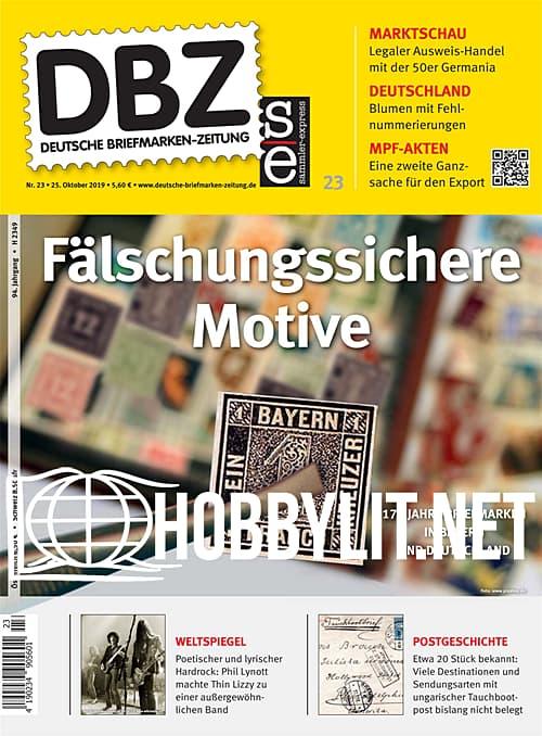 Deutsche Briefmarken-Zeitung 23 - 25 Oktober 2019